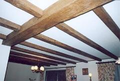 Imitation oak decorative hollow polyester beams