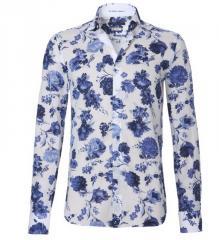 Shirt British indigo Cobalt flower print