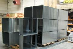 Air ducts and noise dampers