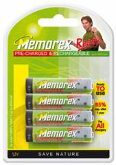 Piles rechargeables Memorex HR03/AAA/Micro 800mAh