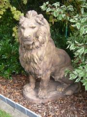Statue en béton Lion (brun)