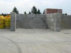 Concrete elements for storage facilities