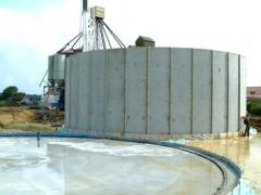 Concrete  of silo walls