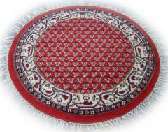 Tapis Herabad Mir rouge (rond) Inde