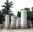 Installation pour oxygène, azote, argon ou dioxyde