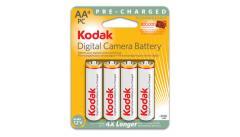 Batteries KODAK AA Ni-MH préchargées pour appareil