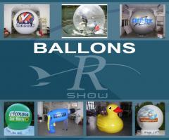 Gonflables publicitaires. Ballons