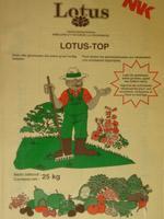 Engrais organiques. Lotus-Top : NPK 10-0-3 - 10%
