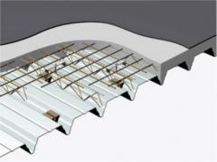 Roof system with a high fire resistance: REI 60