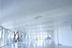Plafond  сoupe-feu suspendu sur ossature métallique cachée