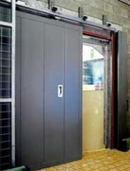 Portes coulissante industrielle