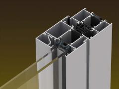 Fenêtre en aluminium multichambres a coupure
