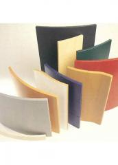 Radius, bended furniture facades