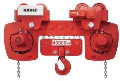 Hoists Type  28/06 EE capacity 40 T/ 8 chain fa
