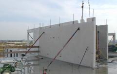 Béton de construction gris