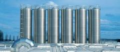 Aluminium storage silos