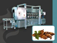 A continuous hot air oven