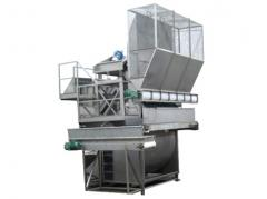 Machine to browse and / or pods to separate beans