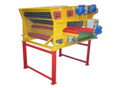 Machine for sorting potatoes by size.