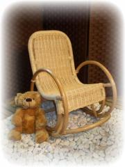 Chaise berçante enfant en rotin 1798