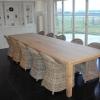 Custom oak table 4m x 1m 20.