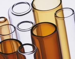 Tubes of borosilicate glass
