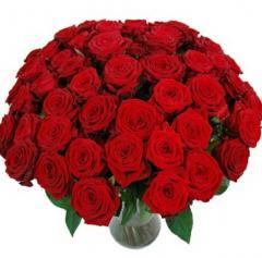 Bouquet Roses rouges longues