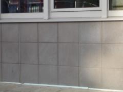 Concrete face tiles