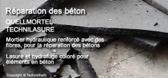 Mortier hydraulique pour réparation des bétons