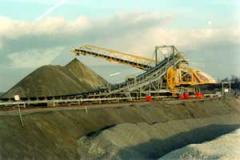 Storage stacker in quarry