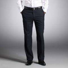 Pantalon en polyviscose extensible classique homme