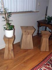 Objets décoratifs  en chêne rustique