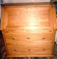 Сommode en bois avec deux tiroires