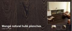 Planches extra larges et longues avec chanfreins - Wengé naturel huilé planches - Largo LPU1289