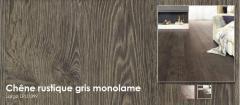 Planches extra larges et longues avec chanfreins  - Chêne rustique gris monolame - Largo LPU1399