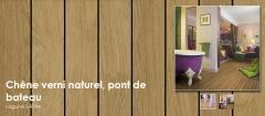 Sols pour salle de bain – également pour d'autres pièces - Chêne verni naturel, pont de bateau - Lagune UR946