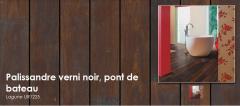 Sols pour salle de bain – également pour d'autres pièces - Palissandre verni noir, pont de bateau - Lagune UR1225
