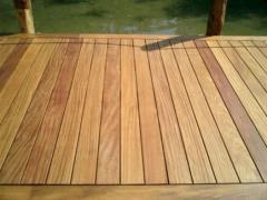 Plancher de terrasse en bois