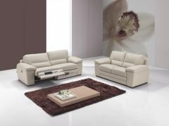 Salon contemporain en cuir vachette 2.2 mm massif