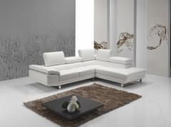 Canapé contemporain en cuir haut de gamme