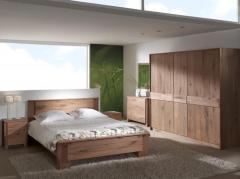 Chambre à coucher en chêne massif naturel
