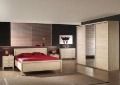 Chambre à coucher moderne décor chêne