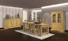 Salle à manger rustique en chêne massif