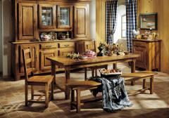 Salle à manger rustique en chêne