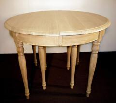 Tables de Salle à Manger - 0TA10-hb Table ronde 100 Louis-Philippe. Chene