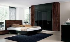 Chambre à coucher Adulte - Maro Moderne - Ebano Lucido