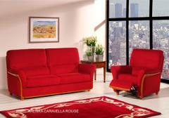 Meubles de salon en tissu Rouge
