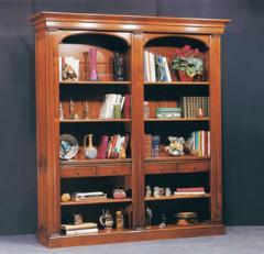 Bibliotheque en bois 2 sections