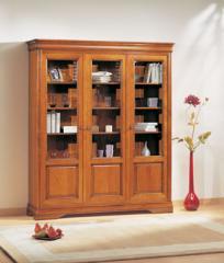 Bibliotheque en bois 3 sections