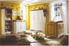 Meubles de chambre a coucher Bébé - Chambre Bébé Gomab Blanc - Référence : GOM-bebe-blanc